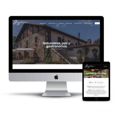 Diseño web de la casa rural Jesuskoa