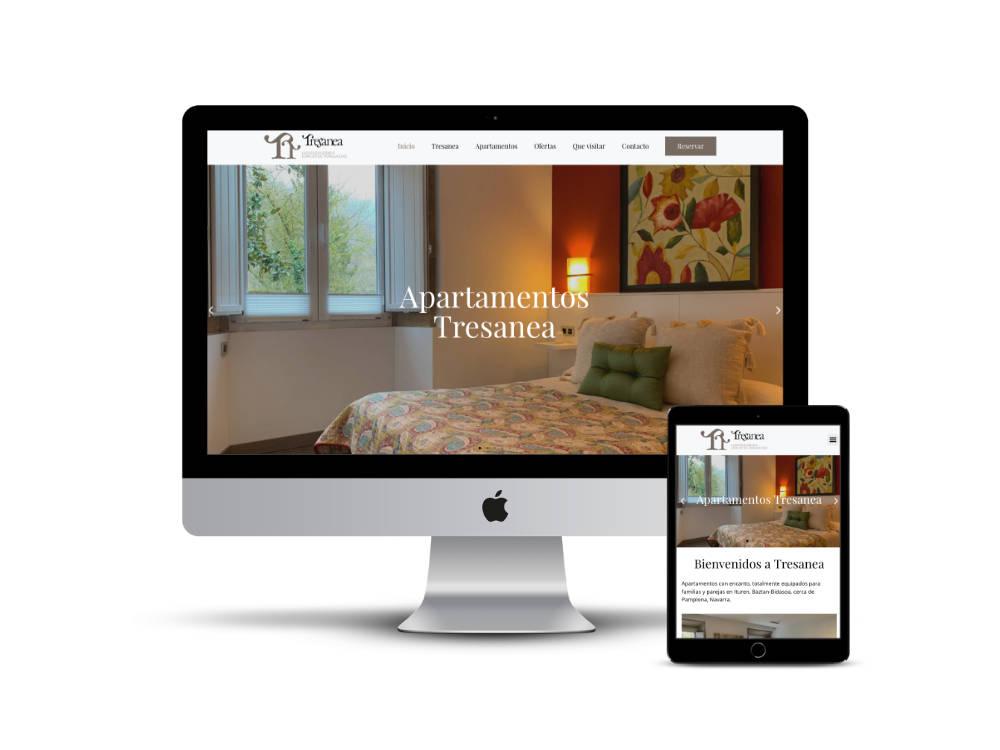 Diseño web de los apartamentos Tresanea