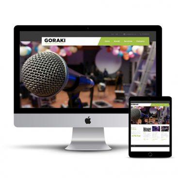Diseño Página web Goraki