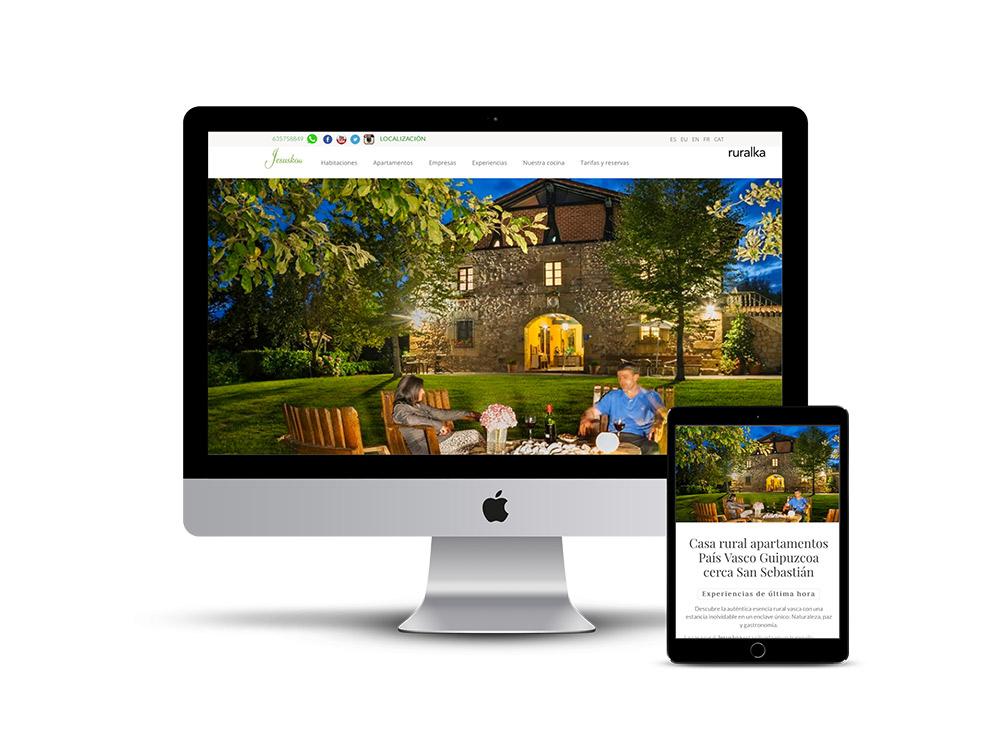 Diseño Página web casa rural Jesuskoa