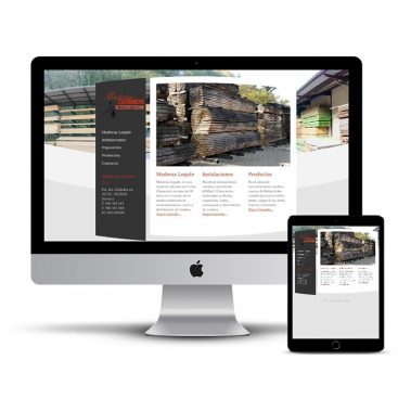 Diseño Página web Maderas Gomen