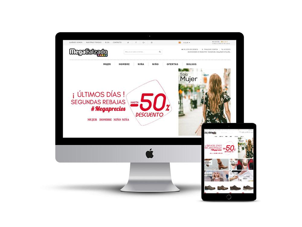 Diseño Página web para Megacalzado