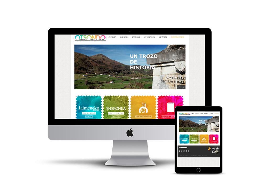 Diseño Página web casa rural Otsondo