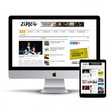 Diseño Página web Zinea