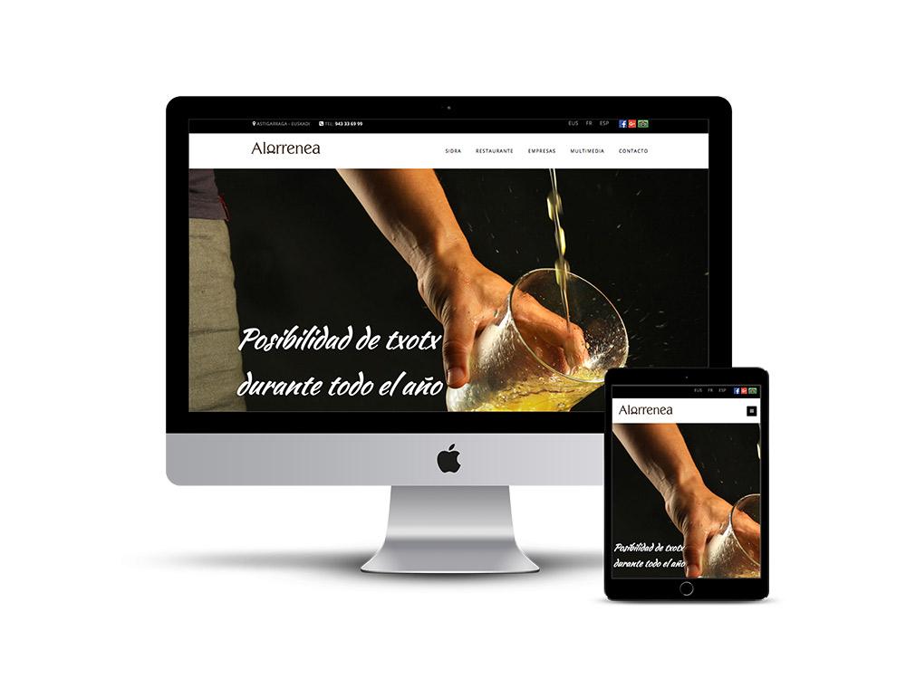Diseño Página web sidreria alorrenea