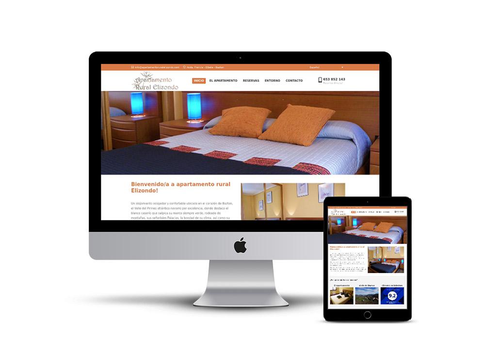 Diseño Página web apartamento rural Elizondo