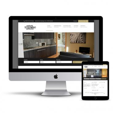 Diseño Página web Apartamentos Elizondo