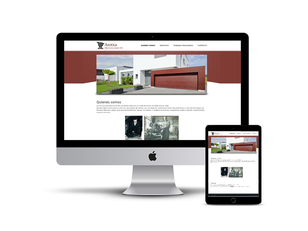 Diseño Página web Arotxa Irurita