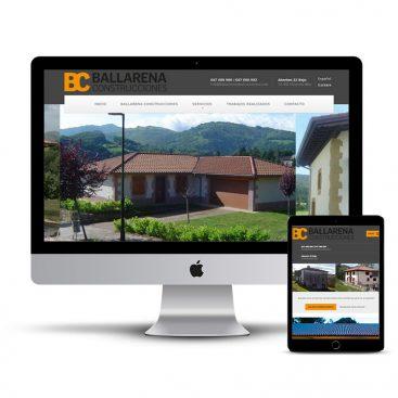 Diseño Página web Construcciones Ballarena