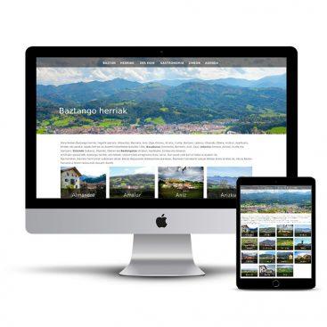 Diseño Página web oficial turismo Baztan