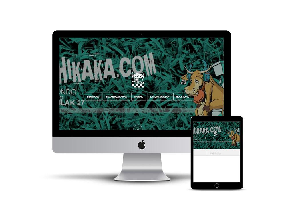 Crear Página web Behikaka
