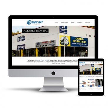 Diseño Página web talleres Biok Bat