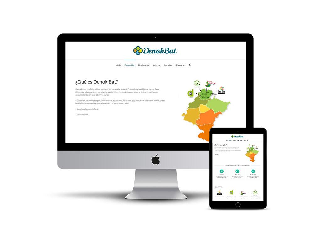 Diseño Página web Denok Bat