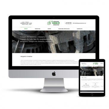 Diseño Página web desguaces Navarra