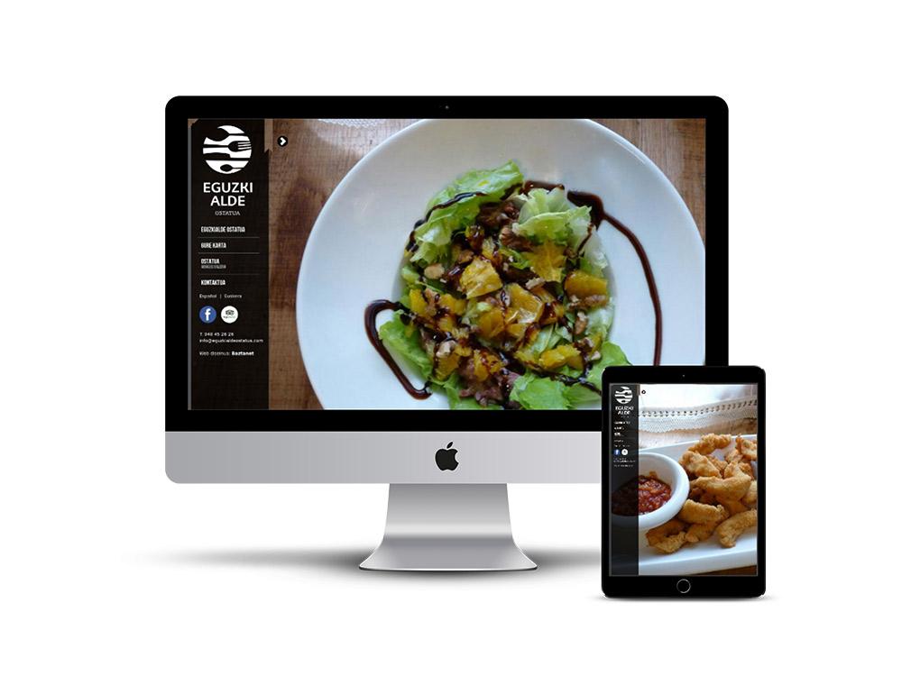 Diseño Página web Eguzkialde Ostatua