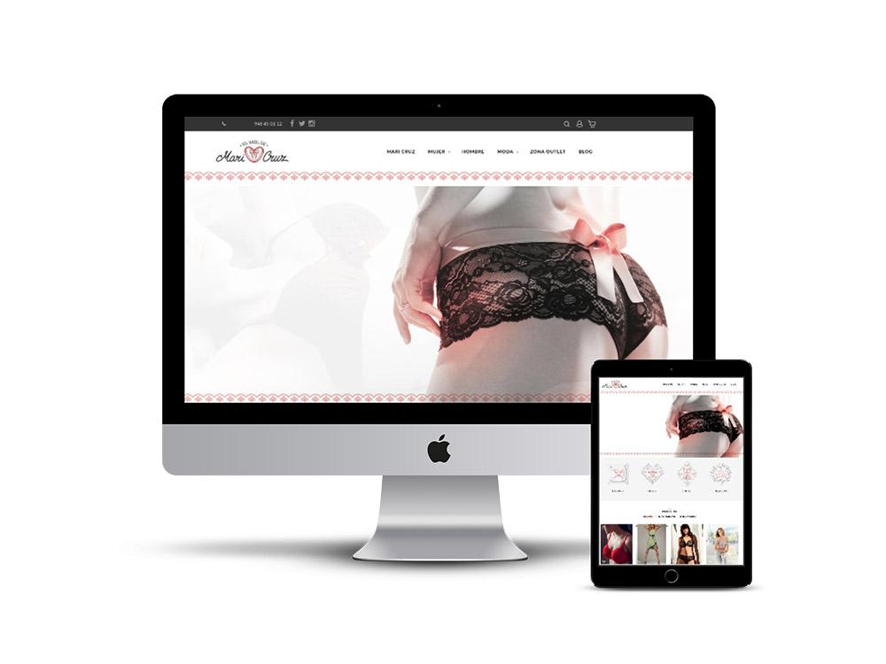Diseño Página web el baul de Mari Cruz