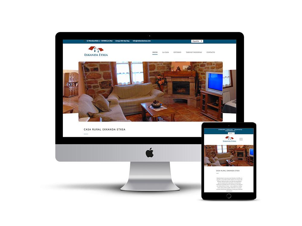 Diseño Página web Exkanda Etxea
