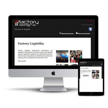 Diseño Página web Factory Soinua