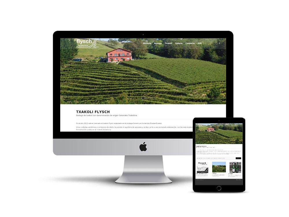 creación Páginas web Flysch Txakolina