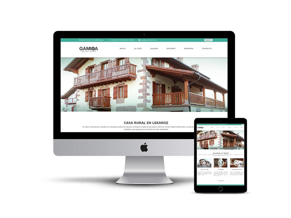 Diseño Página web casa rural Gamioa