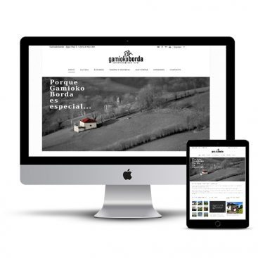 Diseño Página web casa rural Baztan