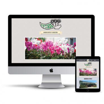 Diseño Página web Floristeria Garden Esther