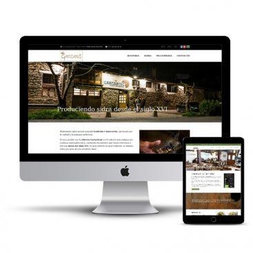 Diseño Página web sidreria Gartziategi