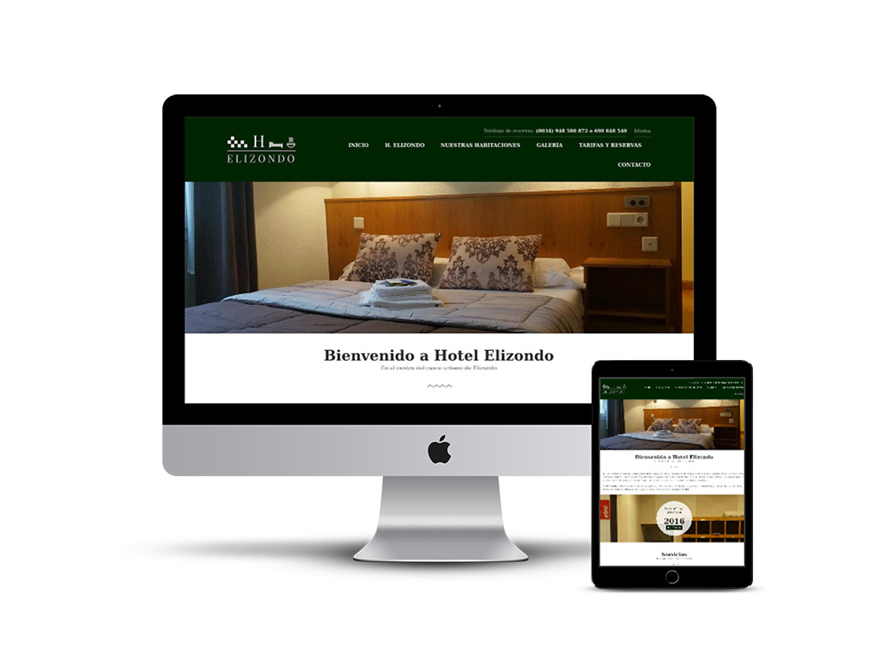 Pagina web Hostal Elizondo