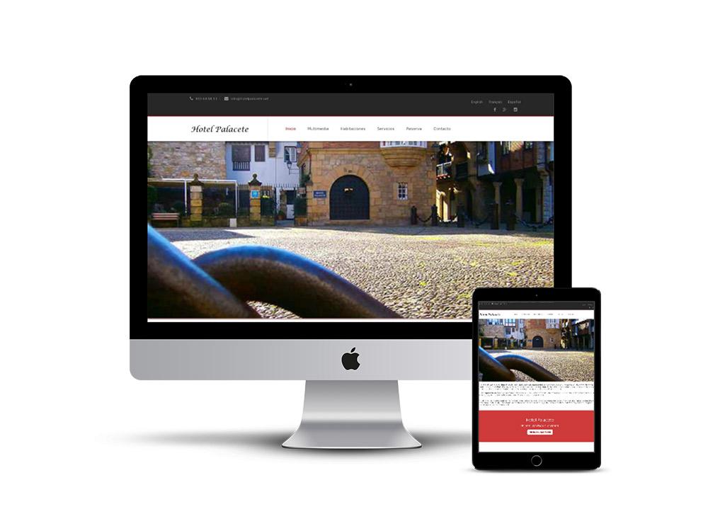 Diseño web Hotel Palacete