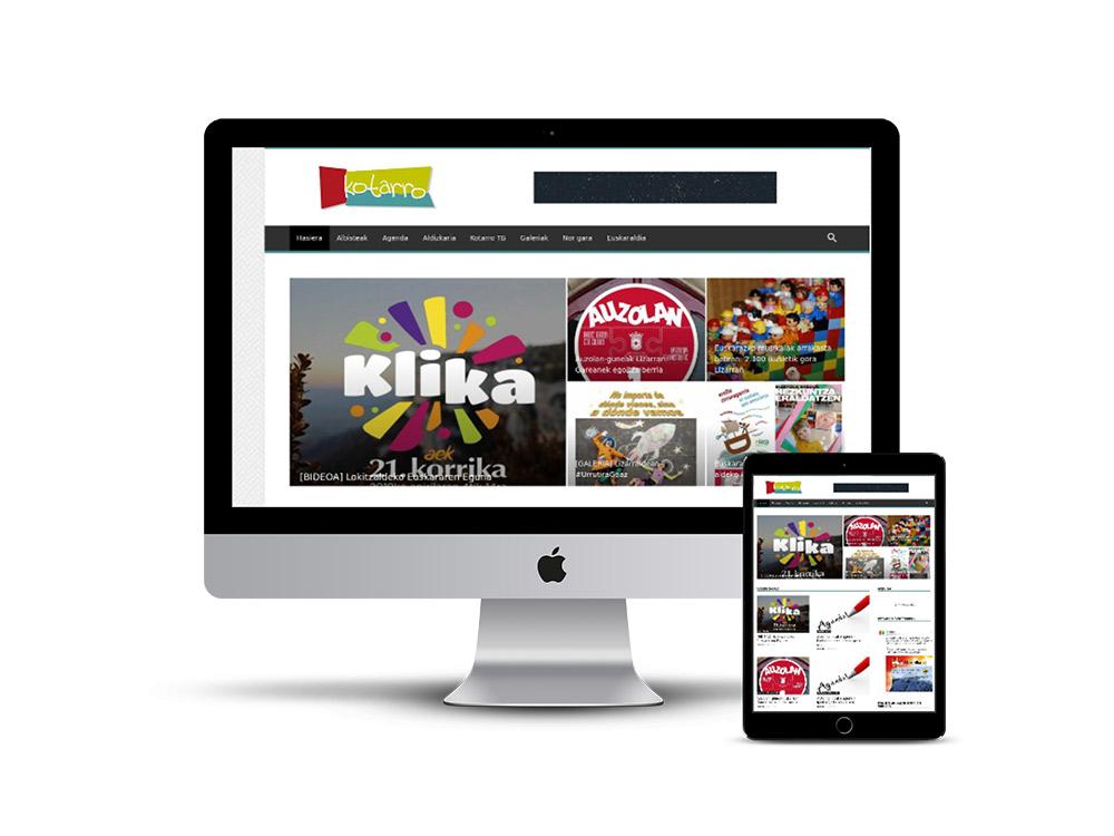 Diseño Página web para revista kotarro
