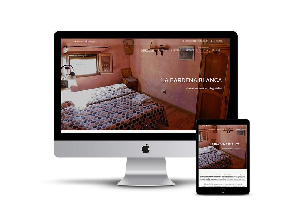 Diseño Página web casa rural la bardena