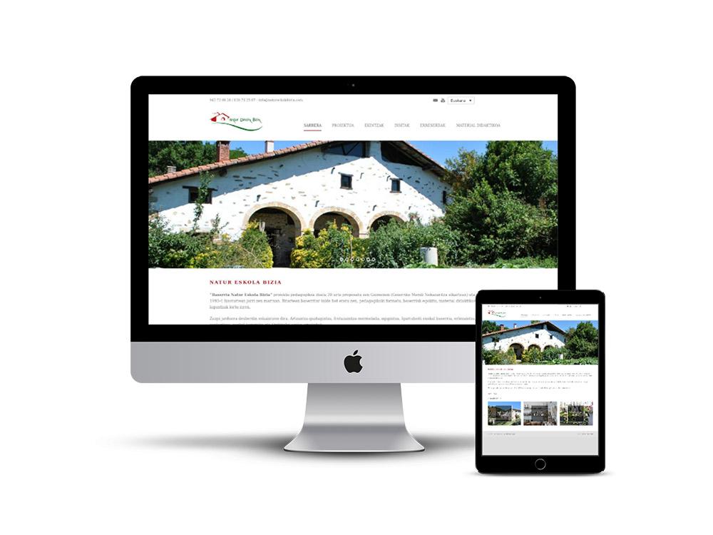 Diseño Página web Natur eskola Bizia