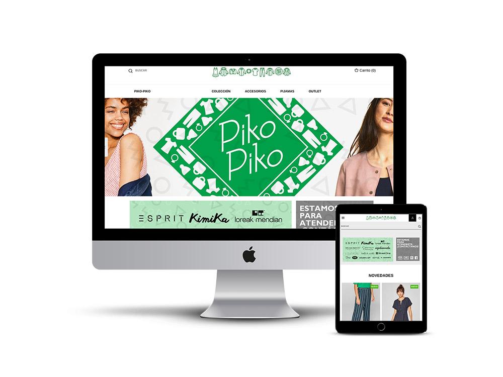 Diseño Página web tienda Piko Piko