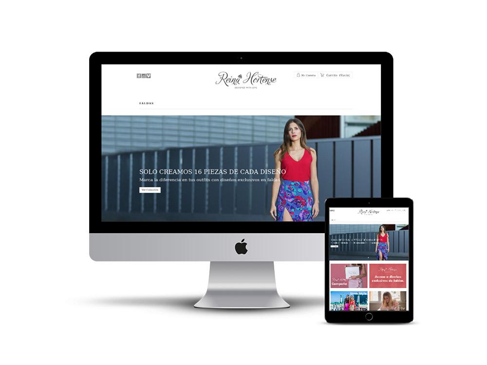 Diseño Página web Reina Hortense