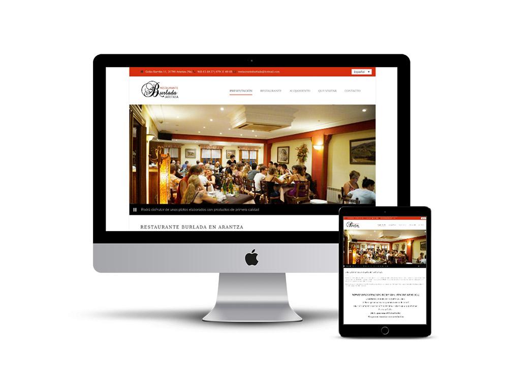 Diseño web Navarra restaurante Burlada