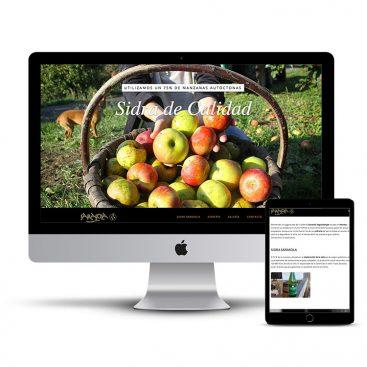 Diseño Página web sidreria Sarasola