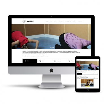 Diseño Página web Ukitzen