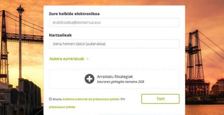 Alternativa a Wetransfer tori.eus