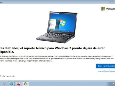 tras diez años el soporte técnico para windows 7 pronto dejará de estar disponible