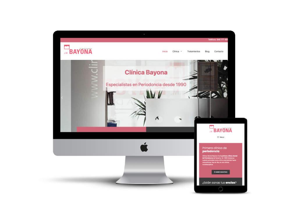 Diseño web de la empresa Clínica Bayona