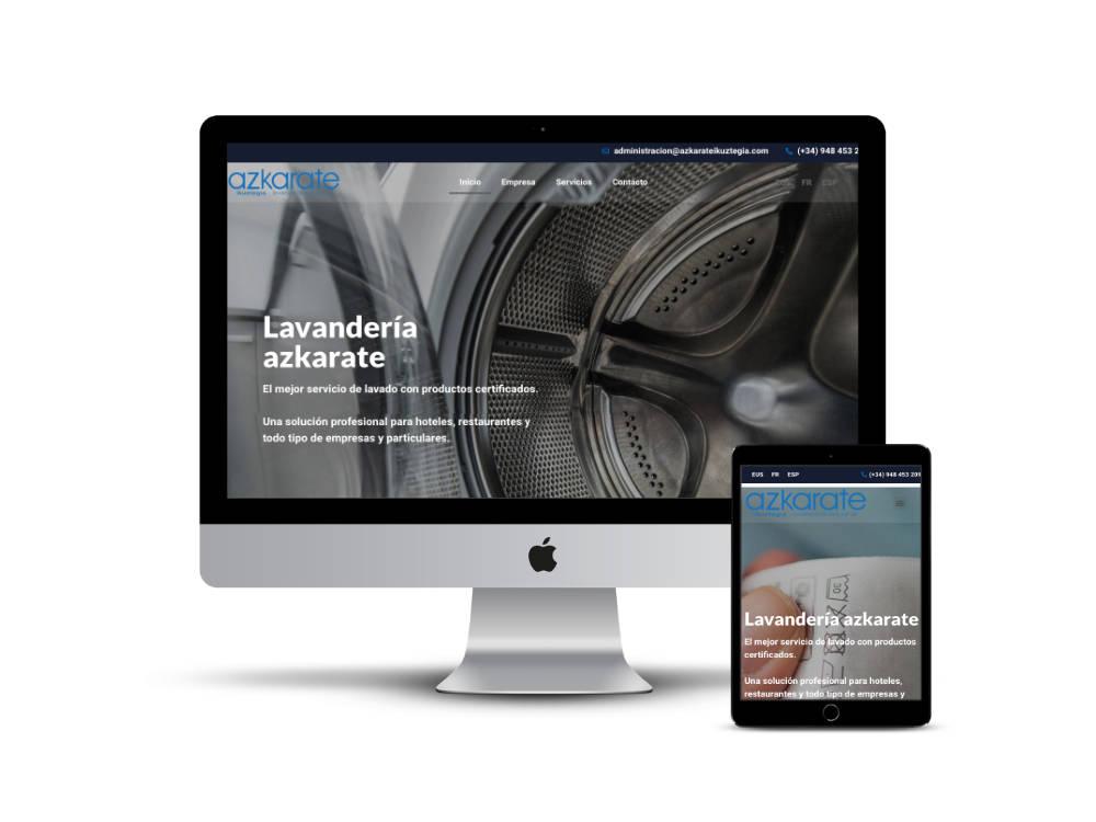 Diseño web Navarra - Lavandería Azkarate