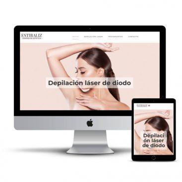 Diseño web Navarra - Centro estética Estibaliz