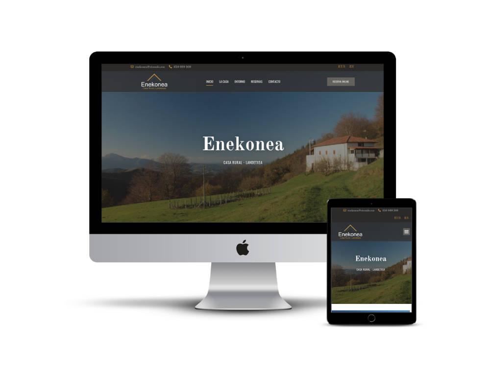 Diseño web de la casa rural Enekonea